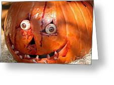 Bloody Pumpkin Greeting Card