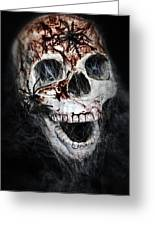 Bloody Skull Greeting Card