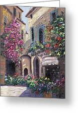 Blooming Alley Greeting Card