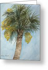 Blooming Palm Greeting Card