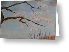 Blossoms Over The Lake Greeting Card