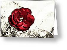 Blotted Rose Greeting Card