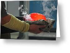 Blowing Glass IIi Greeting Card