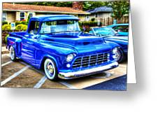 Blue 1956 Chevy Pickup Greeting Card