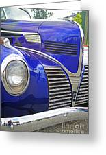 Blue And Chrome Nose Greeting Card