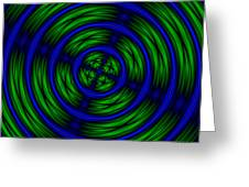 Blue And Green Abstract Greeting Card