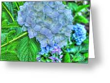 Blue And Green Flora Greeting Card