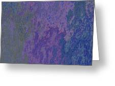 Blue And Purple Stone Abstract Greeting Card