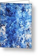 Ocean - Blue Abstract Art Paintingi Greeting Card