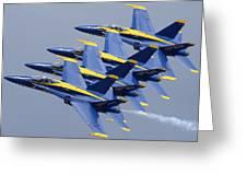 Blue Angels Four-ship Echelon Naf El Centro February 16 2012 Greeting Card