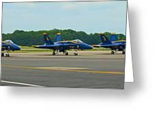 Blue Angels On Tarmac Greeting Card