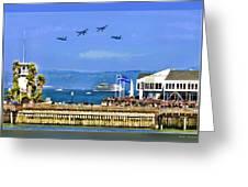 Blue Angels San Francisco Wharf Greeting Card