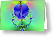 Blue Apples  Greeting Card
