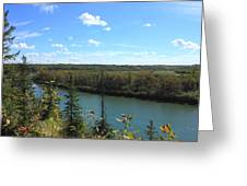 Blue Autumn Waters Greeting Card