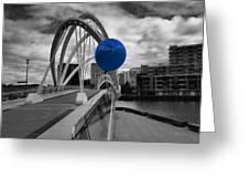 Blue Balloon Greeting Card