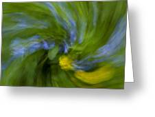 Blue Bells Vortex 2 Greeting Card