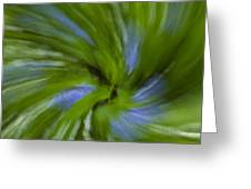 Blue Bells Vortex 3 Greeting Card