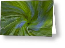 Blue Bells Vortex 4 Greeting Card