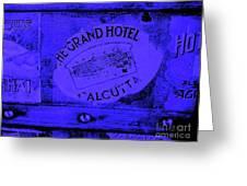 Blue Calcutta Greeting Card