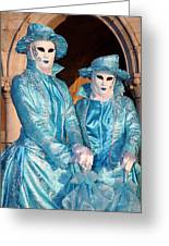 Blue Cane Duo Greeting Card