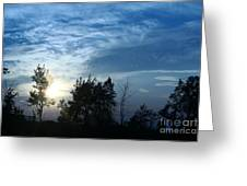 Blue Canvas Sky 03 Greeting Card by Aimelle