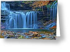 Blue Cascade Falls Greeting Card