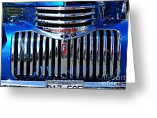 Blue Chevy Pick-up Grill Greeting Card