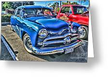 Blue Classic Hdr Greeting Card