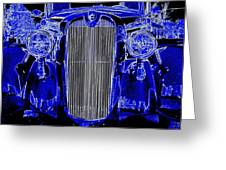 Blue Coupe Greeting Card