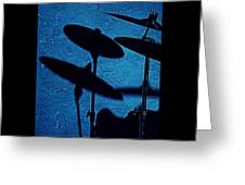 Blue Cymbalism  Greeting Card