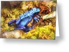 Blue Dart Frog Greeting Card