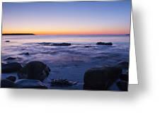 Blue Dawn Acadia National Park Greeting Card