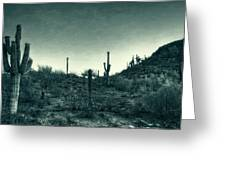Blue Desert  Greeting Card