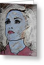 Blue Donna Greeting Card