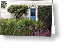 Blue Door Greeting Card by Denice Breaux