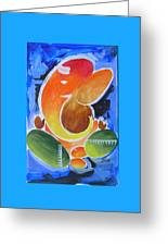 Blue Elephant Abstraction Greeting Card