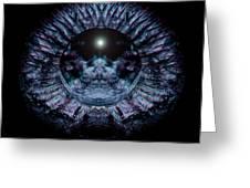 Blue Eye Sphere Greeting Card by David Kleinsasser