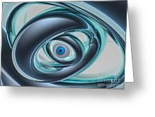 Blue Eyes Of A Machine Greeting Card