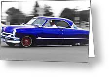 Blue Ford Customline Greeting Card by Phil 'motography' Clark