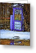 Blue Gate #24 Greeting Card