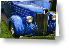 Blue Ghost Flames Greeting Card