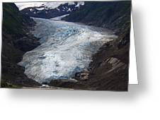 Blue Glacier Greeting Card