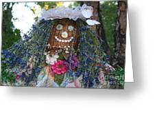 Blue Hair Bride Greeting Card