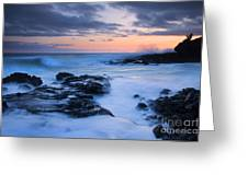 Blue Hawaii Sunset Greeting Card