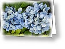 Blue Hydrangeas With Watercolor Effect Greeting Card
