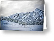 Blue Ice 1 Greeting Card