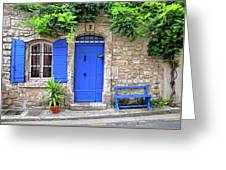Blue In Provence France Greeting Card