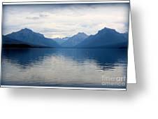 Blue Lake Mcdonald Greeting Card