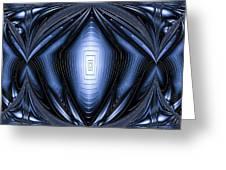 Blue Light Greeting Card