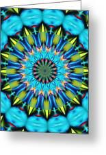 Blue Mandela 102311 Greeting Card